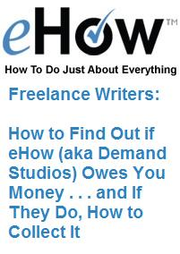 eHow: How to Make Money Writing How-to Articles