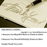"Sample ""Thank the Editor"" Letter: 7 Points You Should Cover That Can Help You Land More Freelance Assignments"