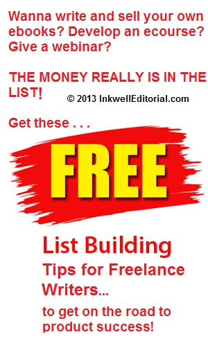 List building tips for freelance writers