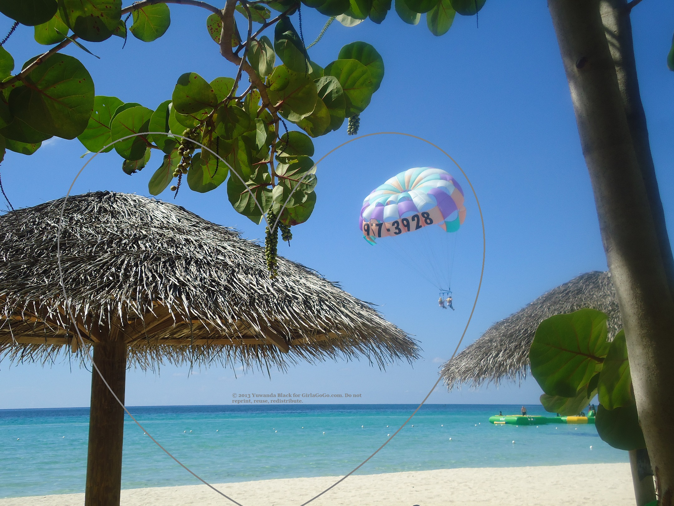 Parasailing on Negril Jamaica's 7-Mile Beach