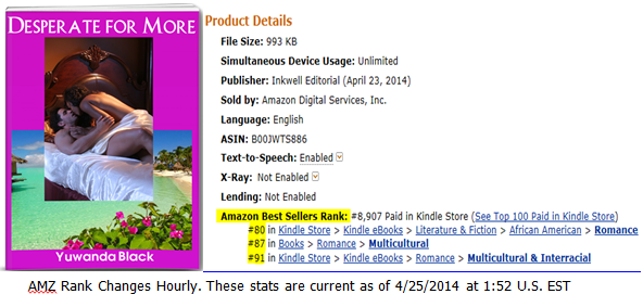 Desperate for More, An AMZ Top 100 Category Seller!