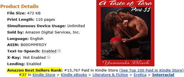 A Taste of Tara: An Erotic, Short Romance (BBW, BWWM, Interracial)