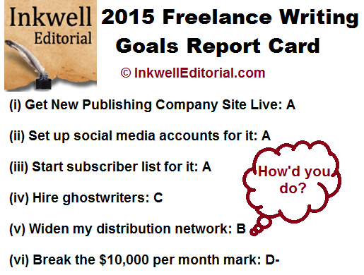 2016 Freelance Writing Goals