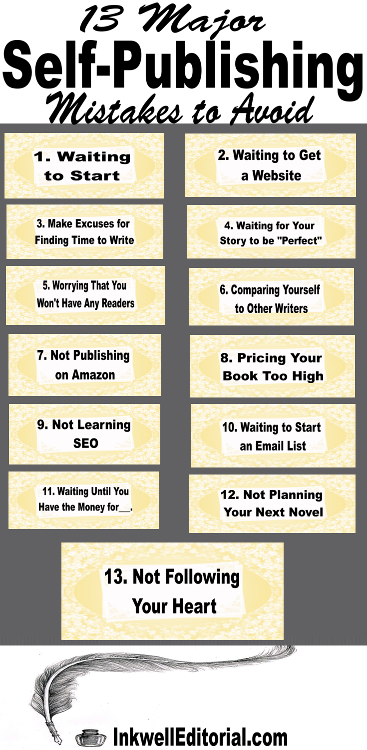 Self-Publishing Mistakes: 13 of the Biggest Common Ones to Avoid