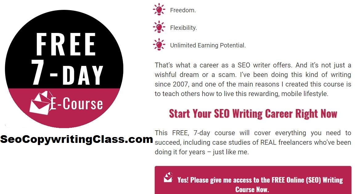 Get trained to become a highly paid SEO writer. Start for free.