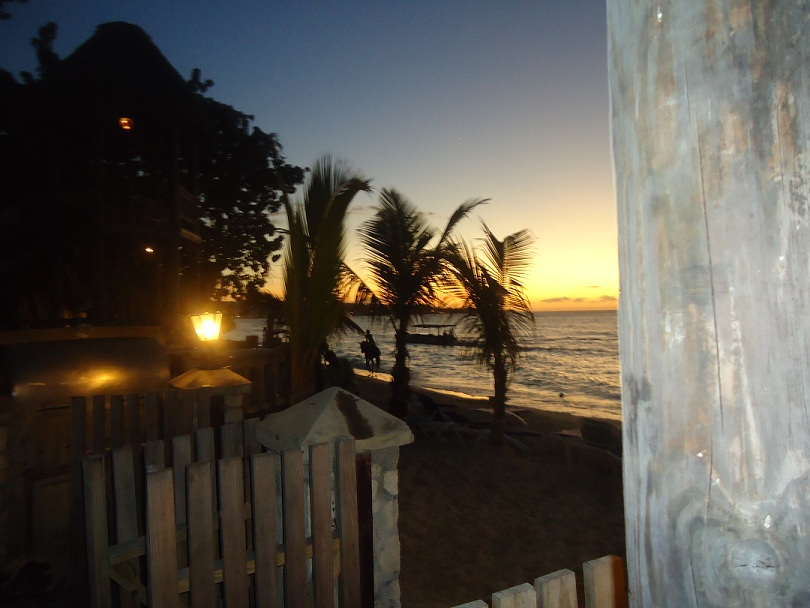 Sunset on 7-Mile Beach in Negril Jamaica