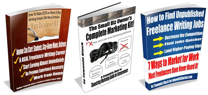 SEO Writing, Small Biz Marketing, Find Unpublished Writing Jobs Ebook Package