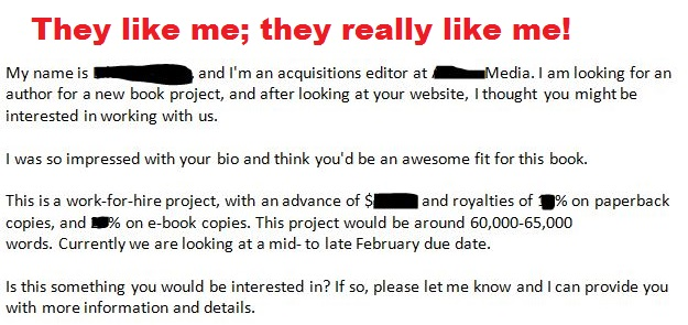 We want to hire you to write a book for us!