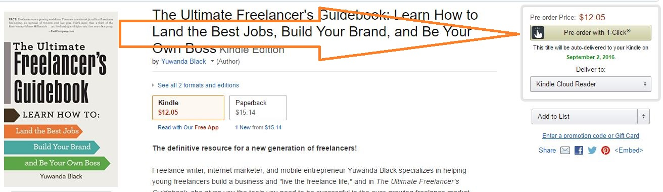 Pre-Order The Ultimate Freelancer's Guidebook on Amazon
