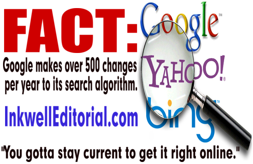 FACT: Google makes over 500 changes per year to its search algorithm.