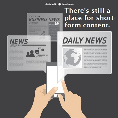 Short-Form Content Still Has a Place at the Table in Content Marketing