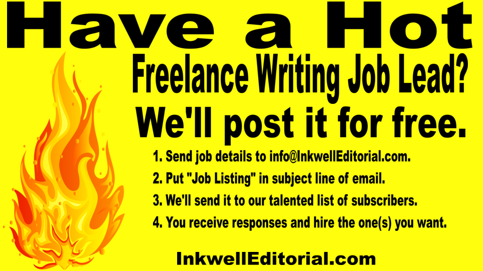 smoking hot really good lance writing job leads inkwell   lance tech writer successful software tech company in need of some extra help content white papers ebooks etc we re looking for a few